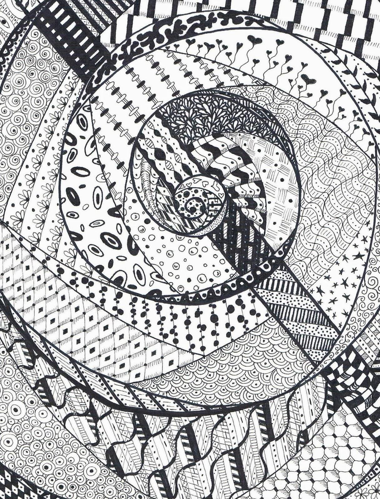 Win Dinn Art, Etc.: Rectangular Zen Doodle