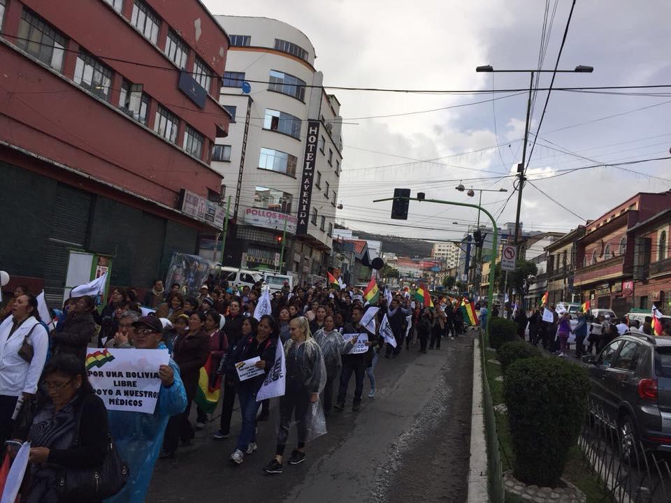 Marchas ciudadanas de apoyo a los médicos continúan cada día en varias capitales / FACEBOOK