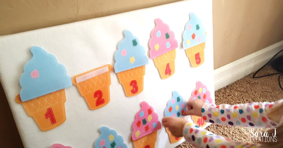 A fun and simple counting activity that is perfect for kindergarten or preschool.