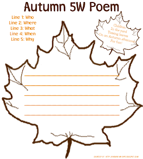 earning my cape autumn poetry printables for kids. Black Bedroom Furniture Sets. Home Design Ideas