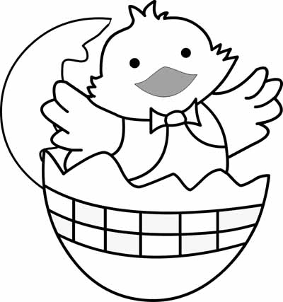 Easter Coloring Pages: Easter Chick Coloring Pages