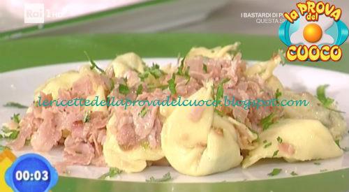 Tortelli di brie con prosciutto cotto croccante ricetta Bertol da Prova del Cuoco