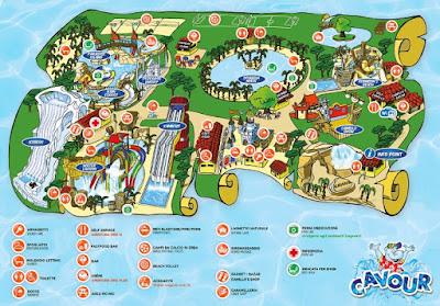 Mappa Parco Acquatico Cavour