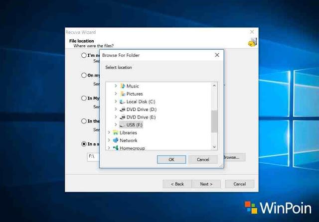 cara mengembalikan file yang terhapus di flashdisk windows