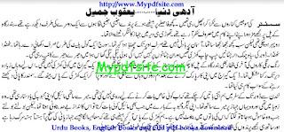 Aadhi Duniya By Yaqoob Jamil