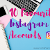 10 Akun Instagram Favorit