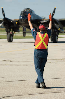 Aircraft taxiing and marshaling
