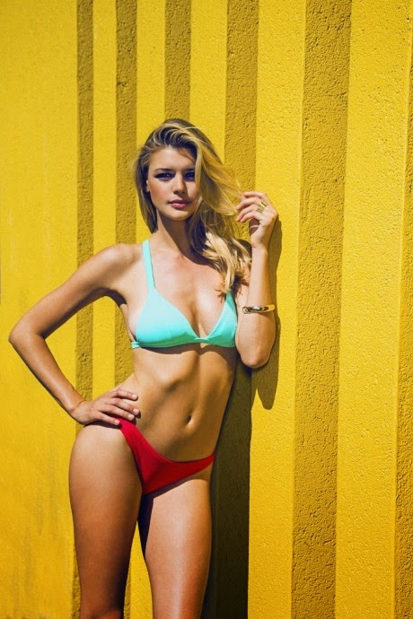 Rise City Swim Spring/Summer 2015 Lookbook featuring Kelly Rohrbach