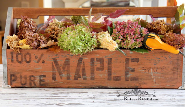 Up-Cycled Wood Tool Tote Table Centerpiece, Bliss-Ranch.com