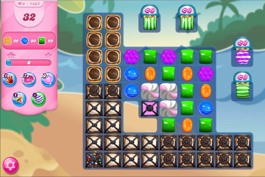 Candy Crush Saga level 7487