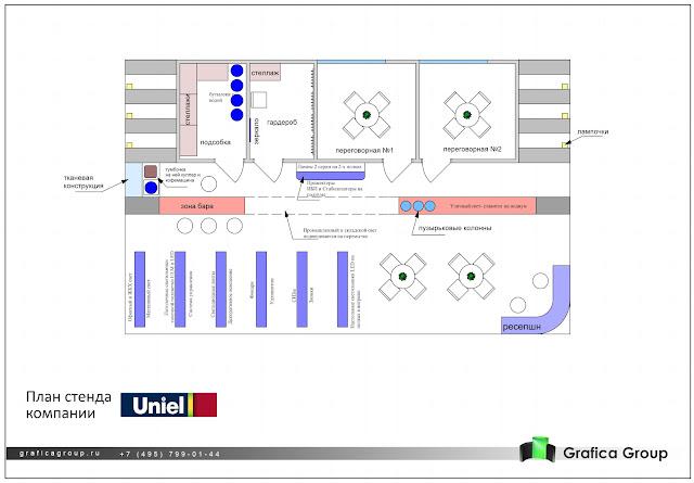 План Выставочного стенда для компании «Юниэль»