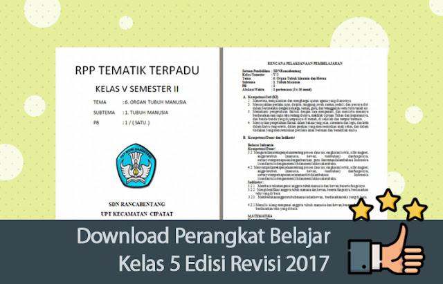 Download Perangkat Belajar Kelas 5 Edisi Revisi 2017
