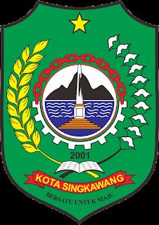 inilah logo atau lambang pemerintahan kota singkawang, kalimantan barat - indonesia