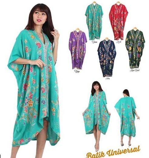 57 Model Gamis Batik Modern 2019 - Model Baju Muslim ...
