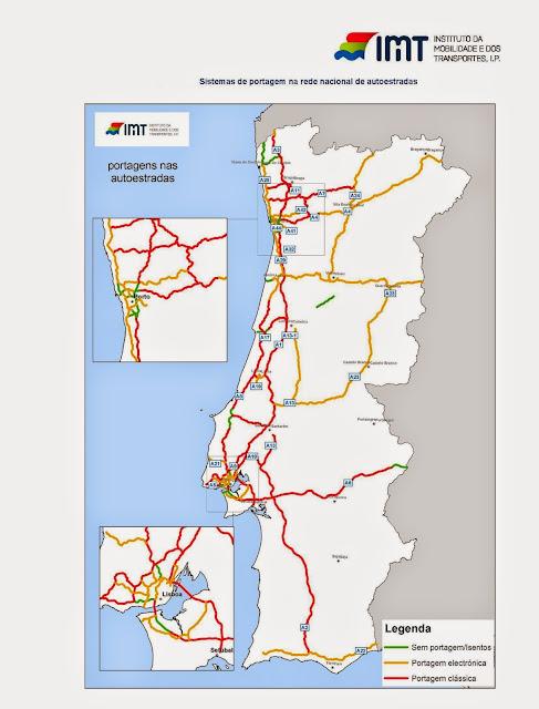 rede de autoestradas de portugal mapa Mapas: A rede rodoviária portuguesa em mapas rede de autoestradas de portugal mapa