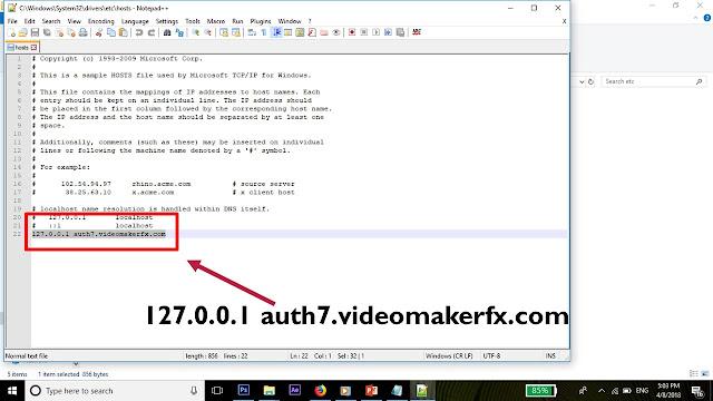 Edit Host Tambahkan server Video Maker FX