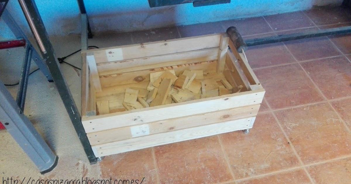 Casas de pizarra caja de madera con ruedas - Caja madera con ruedas ...