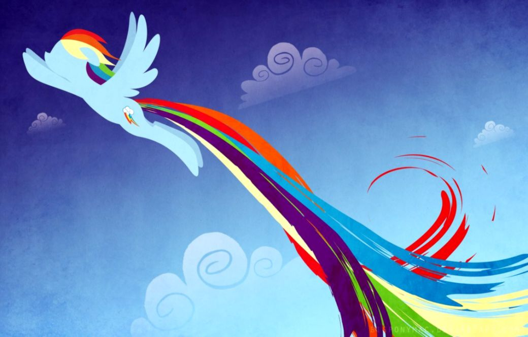 Minimalistic rainbow dash wallpaper Wallpaper Wide HD