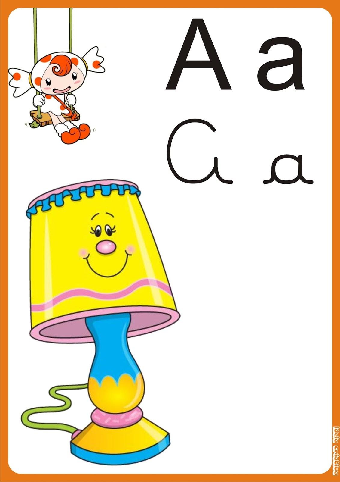 Alfabeto de Parede para Imprimir Grátis.