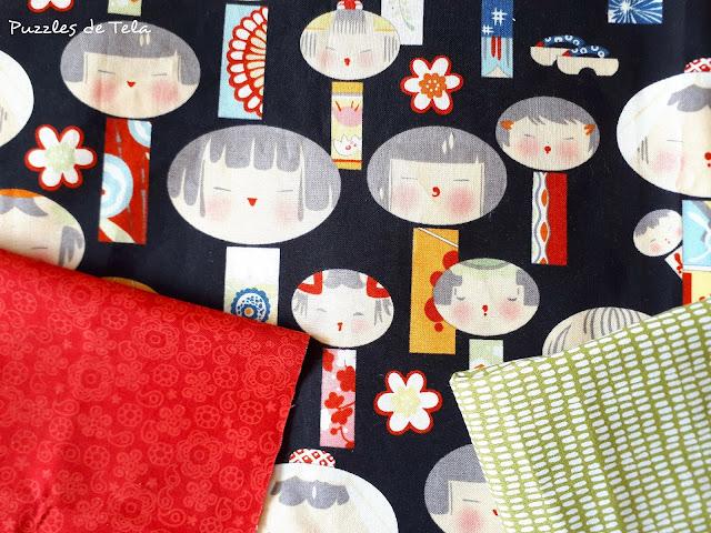 Puzzles de tela, patchwork, handmade, hecho a mano, kokeshi, vestido niña, costurika, sewing, Costurika, Calaix de l'àvia,