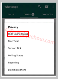 hide online status gbwhatsapp