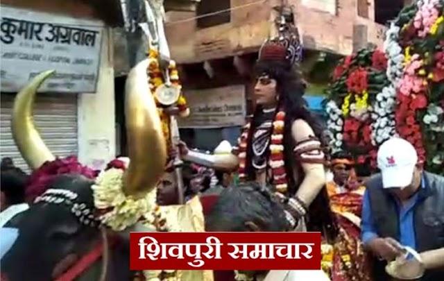नंदी पर सवार राख लपेटे, भूत-प्रेतो के साथ गौरा को ब्याने निकले महादेव | Pichhore News