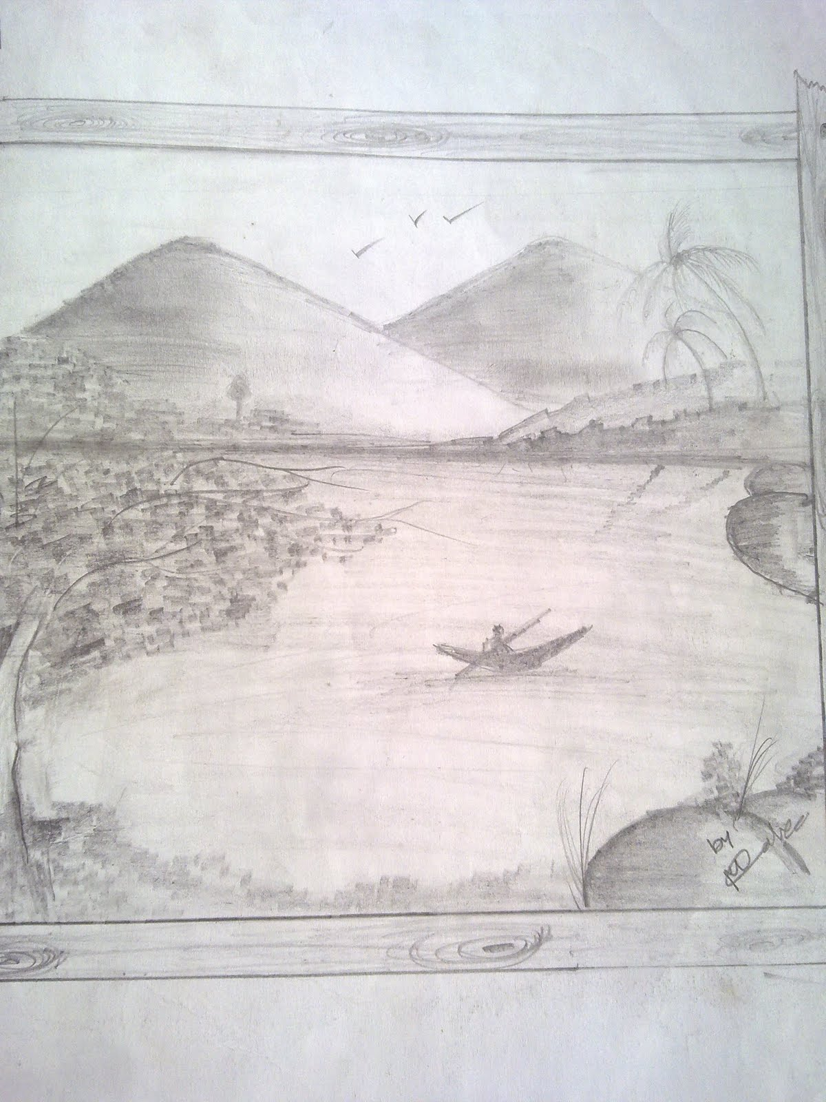 indian drawings: NATURE IN PENCILE DRAWINGS