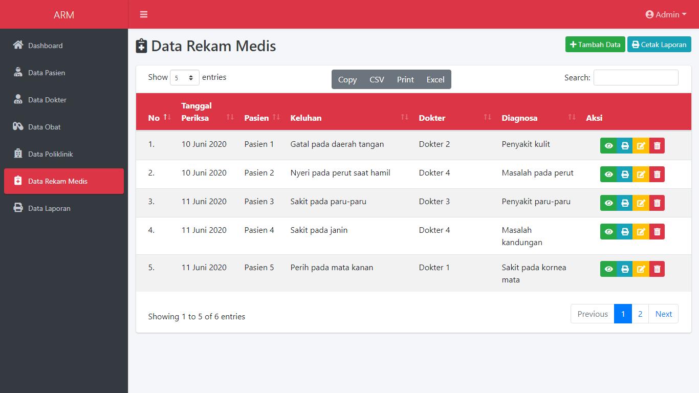 Aplikasi Sistem Informasi Rekam Medis Rumah Sakit - SourceCodeKu.com