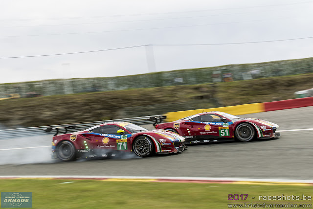 In Second Place The  Af Corse Ferrari Of James Calado And Alessandro Pier Guidi In Third Was The  Ford Gt