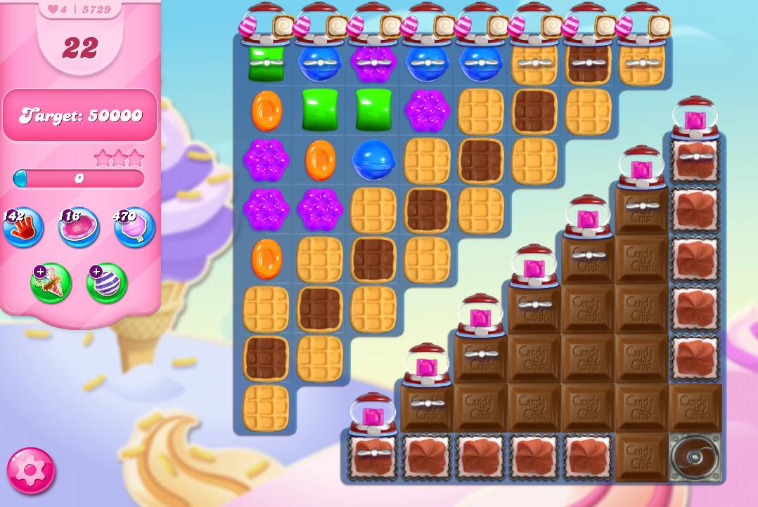 Candy Crush Saga level 5729