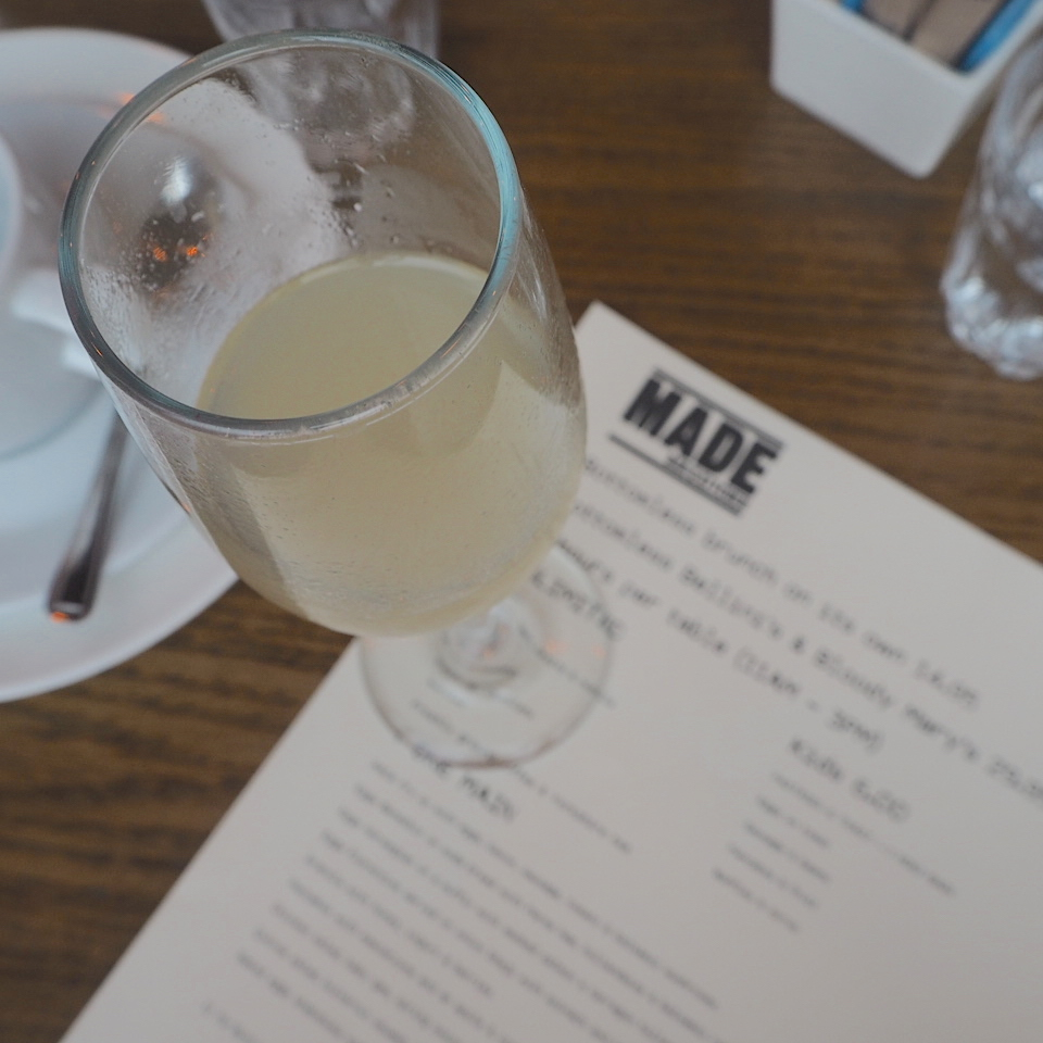 Peach bellini at Made Kitchen, Camden, London