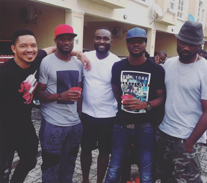 Jude, Peter and Paul Okoye hang out after reconciliation