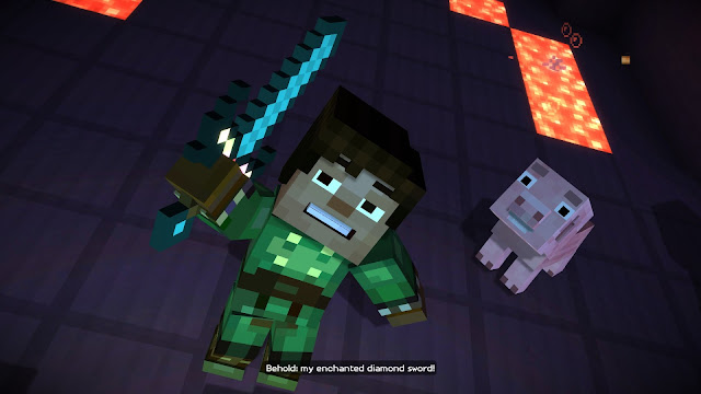 Screenshot of Minecraft: Story Mode by Telltale Games