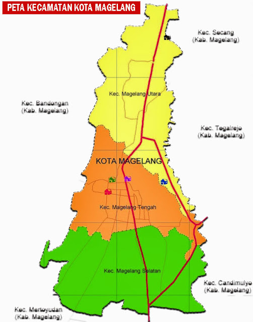 Gambar Peta Kecamatan Kota Magelang
