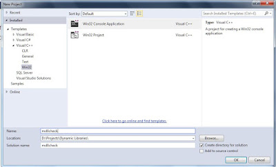 Create a new Win32 Console Application in Visual C++