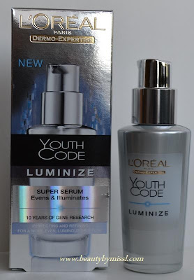 LÓreal Youth Code Luminize Super Serum review.
