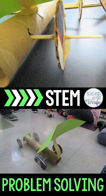 STEM Challenges are the ultimate test for problem-solving with the students in your classroom. Your elementary students will astound you with the way they think through projects and redesign when needed. STEM projects definitely make them try again and again and work together to finish the building tasks. This blog post will give some great examples of things kids have done! #STEM #problemsolving