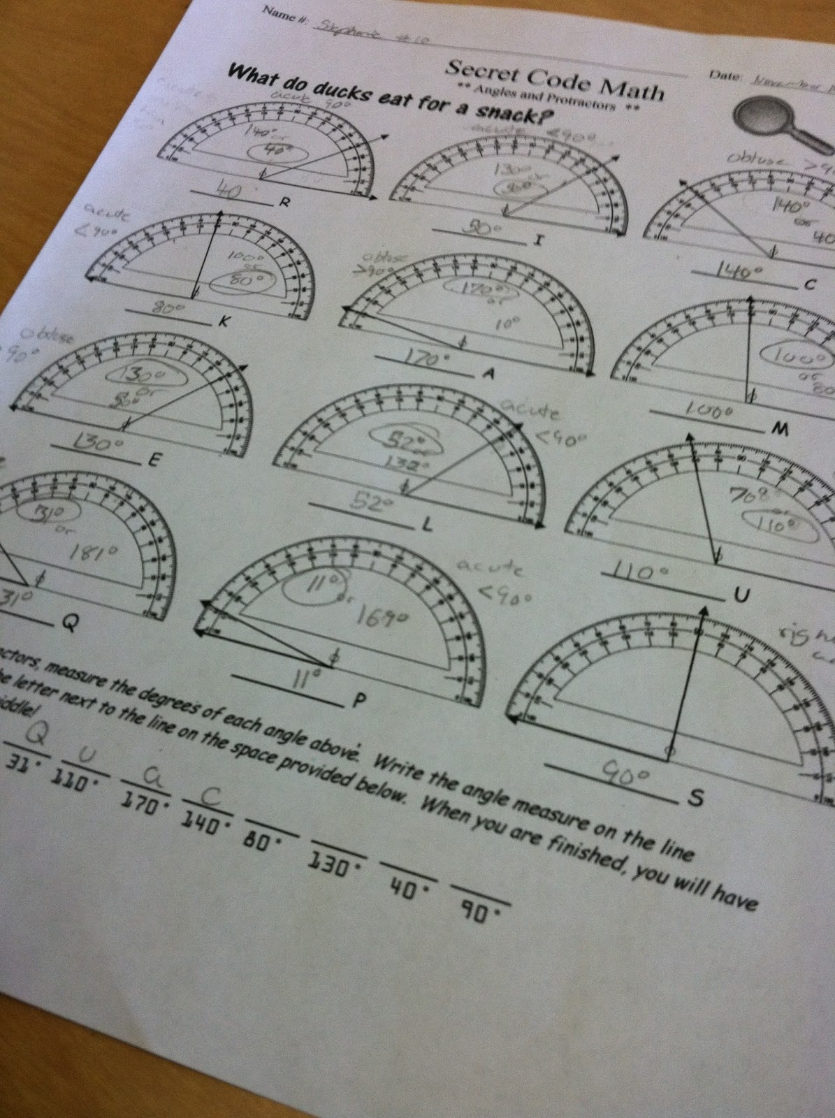 Protractors Riddles Math Fun