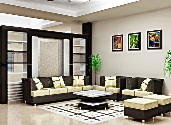 Rumah Dengan Kombinasi Warna Hitam Putih