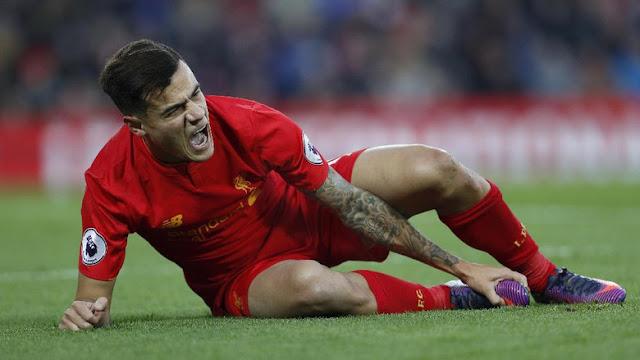 Coutinho Cedera, Carragher Khawatirkan Peluang Juara Liverpool