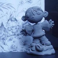 orme magiche artibal il bambino dei moschini modellini statuette sculture action figure personalizzate fatta a mano super sculpey