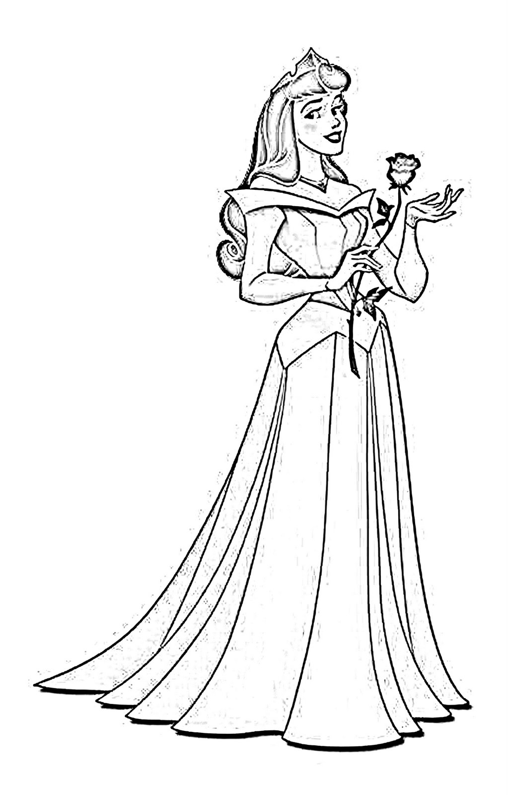Learning for kids - coloring princess aurora - Free ... | free printable princess aurora coloring pages