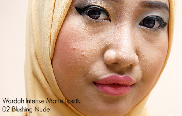 Review Wardah Intense Matte Lipstick 02 Blushing Nude