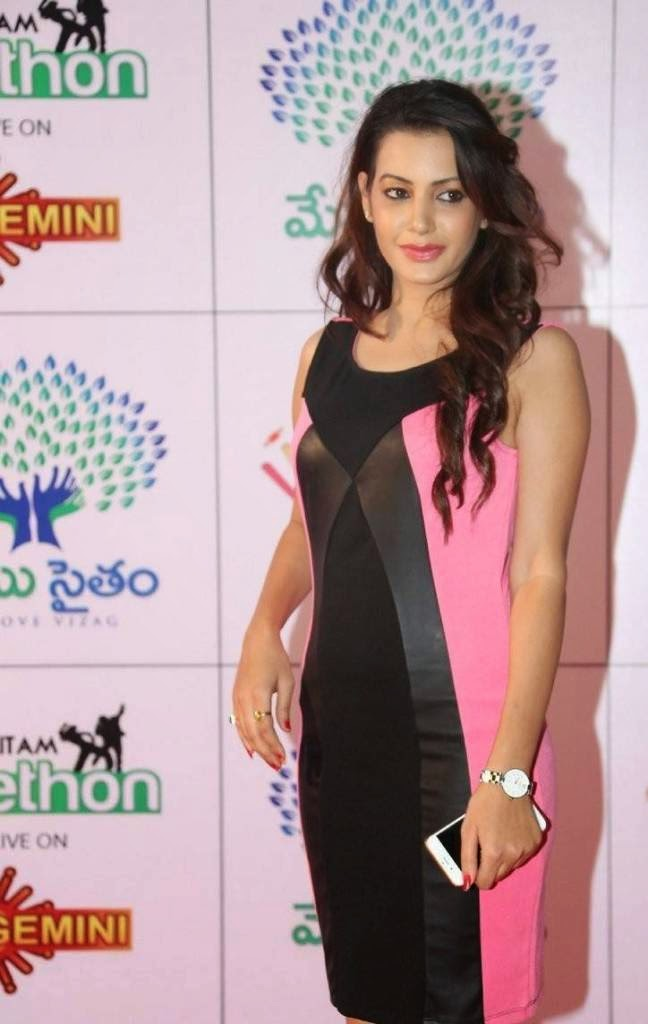 Actress Deeksha Panth Unseen Stills, Deeksha Panth Hot HD Pics in Pink Dress