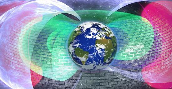 Campo de força artificial que parece proteger a Terra - Img 1