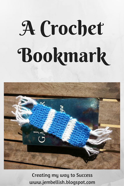 A crochet bookmark