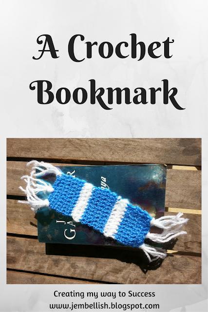 A crochet bookmark