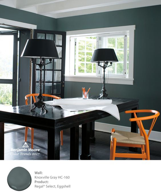 Benjamin Moore Knoxville Gray is one of 24 beautiful colors in the 2017 color palette