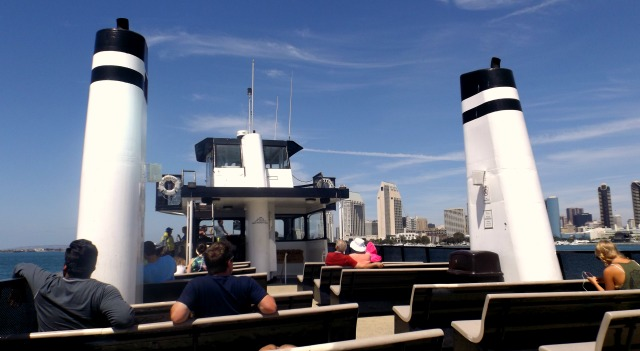Riding the ferry from Coronado to downtown San Diego