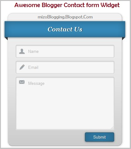 Awesome Blogger Contact Form Siam Dan